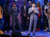 Freestyle Love Supreme director and co-creator Thomas Kail addresses the audience on opening night.Photo: Getty Images