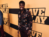 Ain't Too Proud star (and Broadway.com vlogger!) Jawan Jackson gives a bright smile.