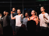 The cast of Slave Play take their opening night bow.