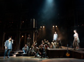 James Delisco Beeks, Aaron LaVigne, Jenna Rubaii & the touring company of Jesus Christ Superstar, photo by Matthew Murphy
