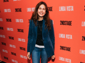 Tony nominee Jessica Hecht beams on the red carpet.