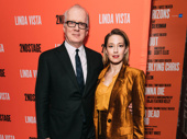 Linda Vista playwright Tracy Letts celebrates opening night with his wife Carrie Coon.