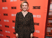 Greta Gerwig steps out to support Tracy Letts, who appeared in her film Lady Bird.