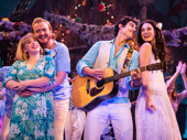 Shelly Lynn Walsh as Tammy, Peter Michael Jordan as Brick, Chris Clark as Tully & Sarah Hinrichsen as Rachel in Escape to Margaritaville, photo by Matthew Murphy