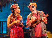 Rachel Lyn Fobbs as Marley & Patrick Cogan as J.D. in Escape to Margaritaville, photo by Matthew Murphy
