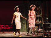 Paige Gilbert and Portia take their opening night bows as Bessie and Flora, respectively.