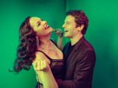 Suddenly opening night! Little Shop of Horrors stars Tammy Blanchard and Jonathan Groff are all smiles.