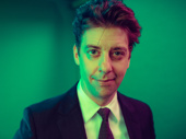 Christian Borle plays Orin Scrivello D.D.S. in Little Shop of Horrors off-Broadway.