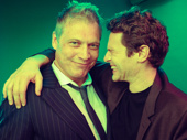 Little Shop of Horrors star Jonathan Groff gets together with his Mindhunter co-star Holt McCallany.