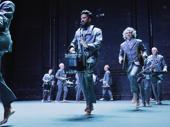 American Utopia's Gustavo Di Dalva, Mauro Refosco and the cast take their curtain call.