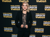 Tony winner Annaleigh Ashford is all smiles for opening night of American Utopia.