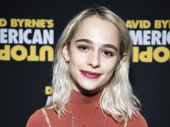 Beetlejuice star Sophia Anne Caruso spends her night off at American Utopia.(Photo: Jenny Anderson)