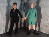 American Utopia vocalist Tendayi Kuumba and dance and vocal captain Chris Giarmo unite on opening night.