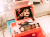 Sophia Anne Caruso puts the final touches on becoming Lydia Deetz.