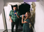 David Josefsberg and Kerry Butler stay hydrated.