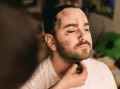 Tony nominee Alex Brightman begins his transformation into Beetlejuice.