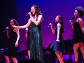 Aida alum and current Hamilton star Mandy Gonzalez takes the stage with her girl power group.(Photo: Monica Simoes)