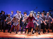 Tony nominee Ashley Park taps it out with original cast members of Newsies.(Photo: Evan Zimmerman)
