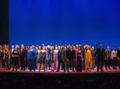 Congrats to Disney for 25 incredible years on Broadway! The evening's talents take in the applause.(Photo: Monica Simoes)