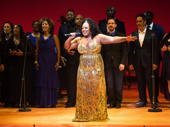Original Aladdin cast member Marisha Wallace sings out with the Broadway Inspirational Voices.(Photo: Monica Simoes)