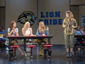 Megan Masako Haley, Mariah Rose Faith, Jonalyn Saxer & Danielle Wade in the touring production of Mean Girls, photo by Joan Marcus