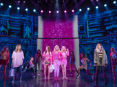 Danielle Wade, Megan Masako Haley, Mariah Rose Faith, Jonalyn Saxer & Mary Kate Morrissey in the touring production of Mean Girls, photo by Joan Marcus