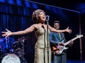 Adrienne Warren as Tina Turner and Daniel J. Watts as Ike Turner in Tina: The Tina Turner Musical.