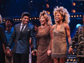 Daniel J. Watts, Tina Turner and Adrienne Warren are all smiles on opening night of Tina.