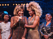 Look who's here! Music icon Tina Turner takes the stage alongside Adrienne Warren, who portrays her in Tina.