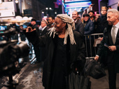 Whoopi Goldberg celebrates opening night of Tina on Broadway.