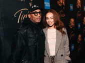 Spike Lee and Tonya Lewis attend opening night of Tina.