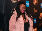 Playwright/performer Jocelyn Bioh beams on the red carpet.