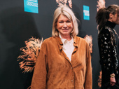Martha Stewart attends opening night of Tina.