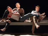 Samuel H. Levine, Kyle Soller and Andrew Burnap in The Inheritance.