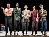 Jordan Barbour, Darryl Gene Daughtry Jr., Kyle Soller, Arturo Luís Soria and Kyle Harris in The Inheritance.
