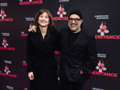Tony-winning music man David Yazbek and Elizabeth Doberneck snap a photo.
