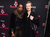 Tony nominee Noma Dumezweni attends opening night of The Inheritance with Anastasia Hille.