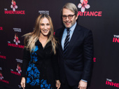 Acting couple Sarah Jessica Parker and Matthew Broderick cheer on their friend and Plaza Suite director John Benjamin Hickey on opening night of The Inheritance.
