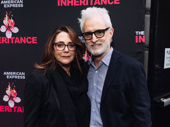 Stage and screen couple Talia Balsam and John Slattery have arrived.