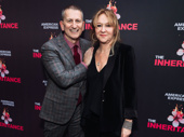 The Inheritance producers Tom Kirdahy and Sonia Friedman are all smiles on opening night.