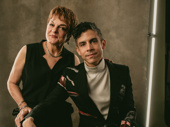The Inheritance playwright Matthew Lopez poses with his aunt, Broadway legend Priscilla Lopez.