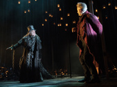 Chris Hoch as Marley and Campbell Scott as Scrooge in A Christmas Carol.