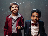 A Christmas Carol's Jai Ram Srinivasan and Sebastian Ortiz share the role of Tiny Tim.