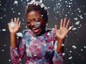 LaChanze enjoys the flurry.