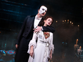 Ben Crawford as The Phantom and Meghan Picerno as Christine in The Phantom of the Opera.
