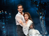 John Riddle as Raoul and Meghan Picerno as Christine in The Phantom of the Opera.