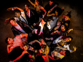 "Sonya Tayeh at center with (clockwise from top) ""Moulin Rouge!"" stars Holly James, Max Clayton, Khori Michelle Petinaud, Reed Luplau, Olutayo Bosede, Jodi McFadden, Ericka Hunter, Fred Odgaard, Benjamin Rivera, Paloma Garcia-Lee, Kyle Brown, Aaron C. Finley, Sam J. Cahn & Kevyn Morrow."