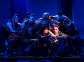 Derek Klena as Nick Healy and the cast of Jagged Little Pill.
