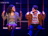 Celia Rose Gooding as Frankie and Antonio Cipriano as Phoenix in Jagged Little Pill.