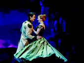 Austin Colby & Caroline Innerbichler in the touring production of Disney's Frozen, photo by Deen van Meer